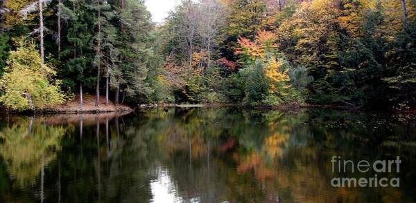 Wall Art - Photograph - Autumn Reflections At Chestnut Ridge Park Fishing Reservoir In New York State by Rose Santuci-Sofranko