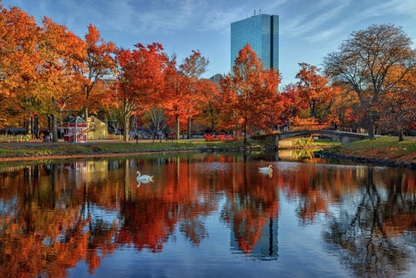 Photograph - Autumn Reflections On The Charles River Esplanade by Kristen Wilkinson