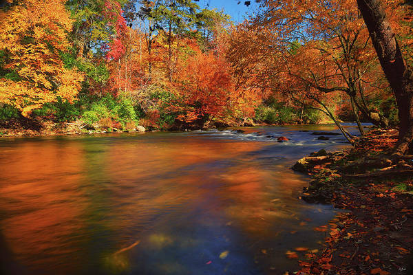 Photograph - Autumn Reflections On The Oconaluftee River by Greg Norrell