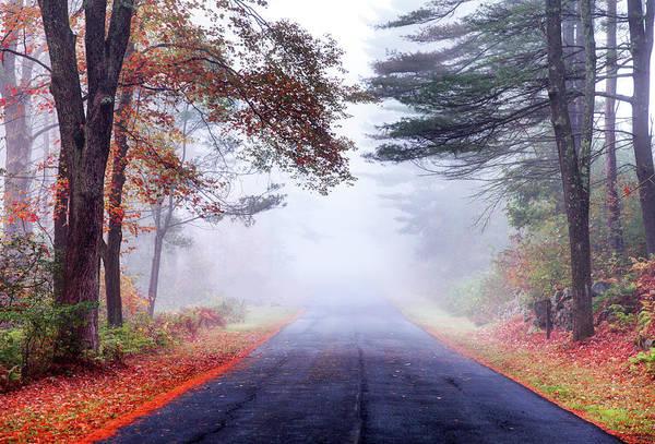 New England Autumn Photograph - Autumn Road In The Quabbin Reservoir by Denistangneyjr