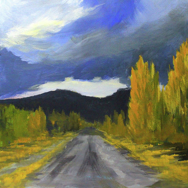 Wall Art - Painting - Autumn Road Trip by Nancy Merkle