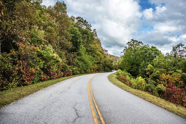 Photograph - Autumn Scenic Drive Along Blue Ridge Parkway  by Alex Grichenko