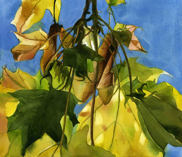 Painting - Autumn Seed by Alfred Ng