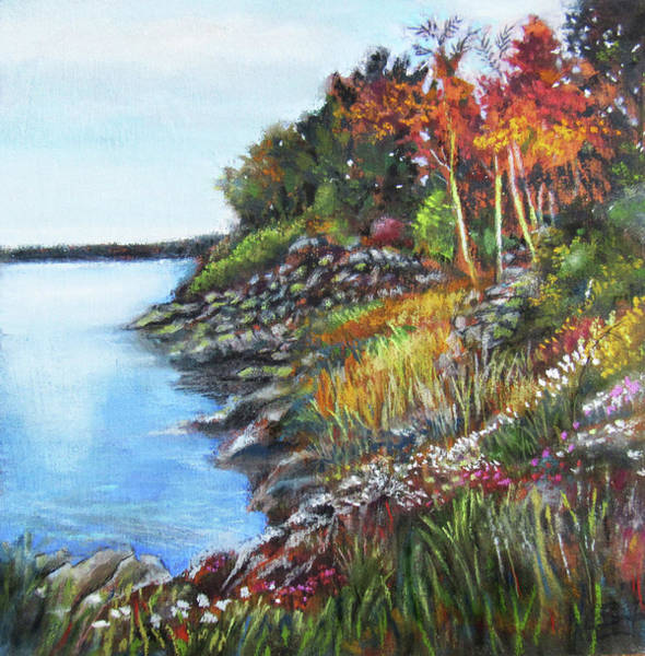 Pastel - Autumn Shore by Jean Batzell Fitzgerald