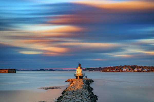 Photograph - Autumn Skies At Spring Point Ledge Lighthouse by Rick Berk