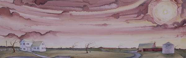 Painting - Autumn Skies On The Kirby Farm by Scott Kirby