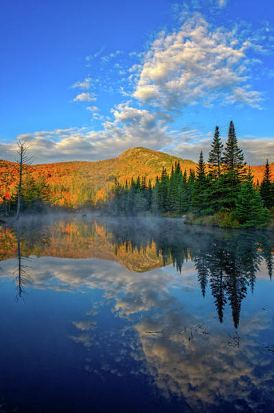 Photograph - Autumn Sky, Mountain Pond by Jeff Sinon