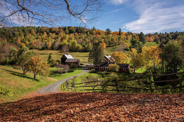 Photograph - Autumn Sleepy Hollow Farm Vermont 2018 by Terry DeLuco
