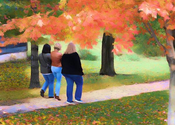 Photograph - Autumn Stroll by Jack Wilson