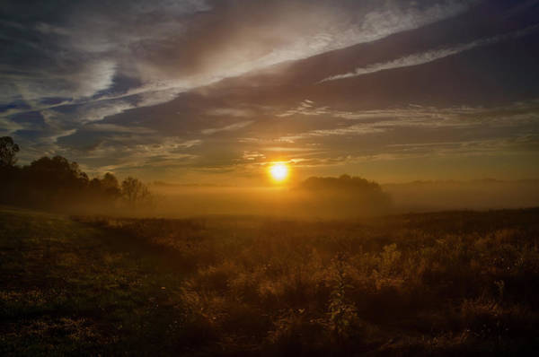 Photograph - Autumn Sunrise At Valley Forge by Bill Cannon