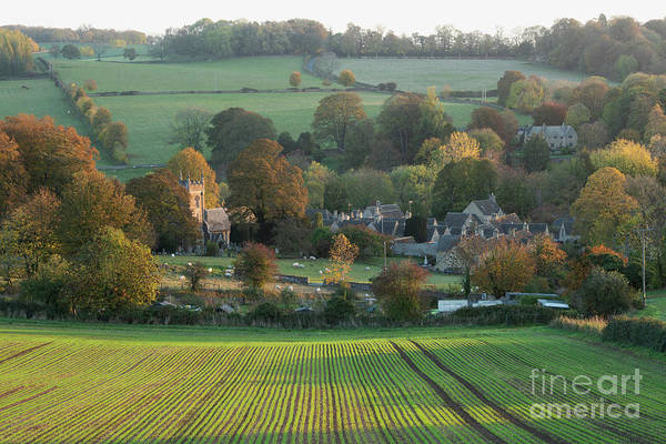 Photograph - Autumn Sunrise Upper Slaughter by Tim Gainey