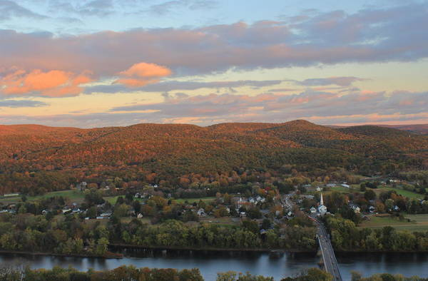 Wall Art - Photograph - Autumn Sunset From Mount Sugarloaf by John Burk