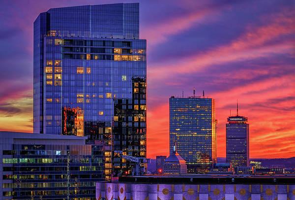 Photograph - Autumn Sunset In Boston by Kristen Wilkinson