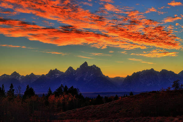 Photograph - Autumn Sunset In The Tetons by Greg Norrell