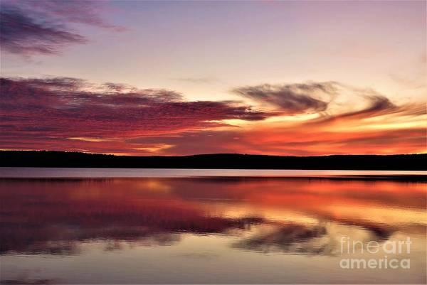 Madawaska Lake Photograph - Lake Sunset by Vickie Ketch