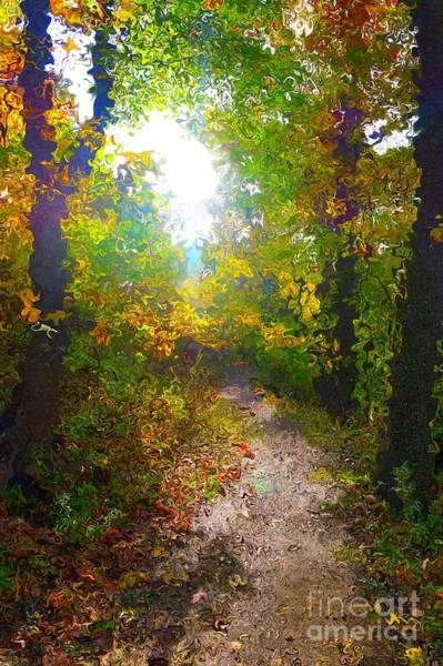 Digital Art - Autumn Sunshine In Van Gogh Style by Christopher Shellhammer