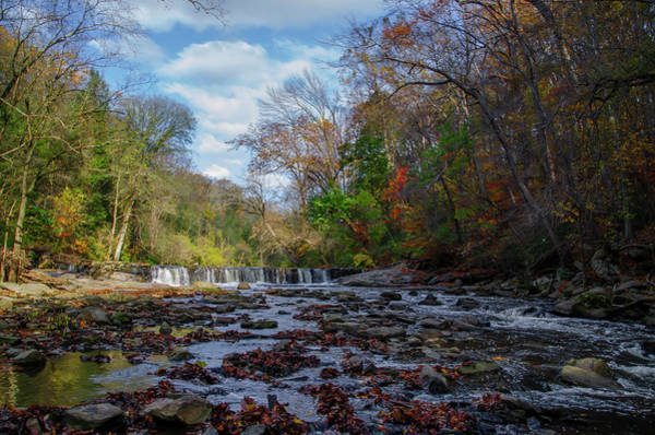Wall Art - Photograph - Autumn - The Waterfall On The Wissahickon Creek by Bill Cannon