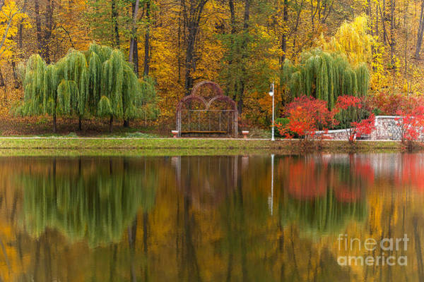 Autumn Tints Of Nature,park In Autumn Art Print