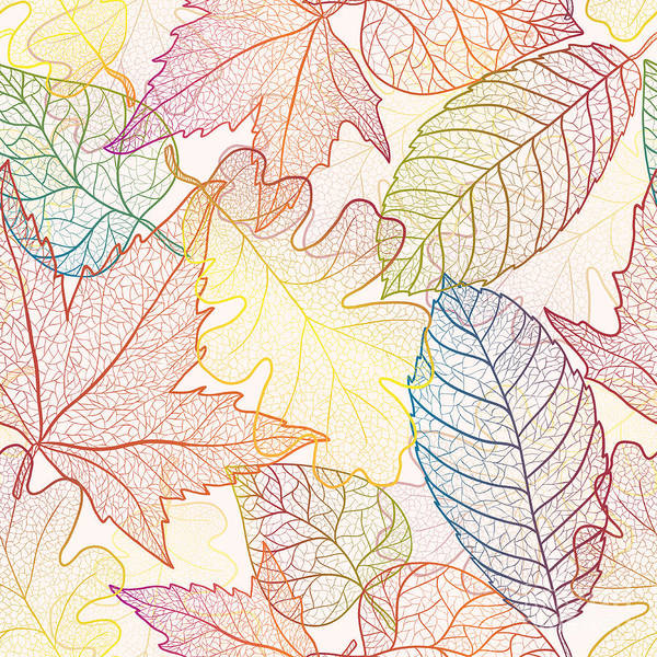 Wall Art - Digital Art - Autumn Transparent Maple Leaves Pattern by Julia Snegireva