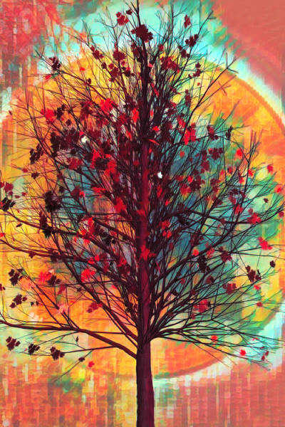 Photograph - Autumn Tree In African Art by Debra and Dave Vanderlaan