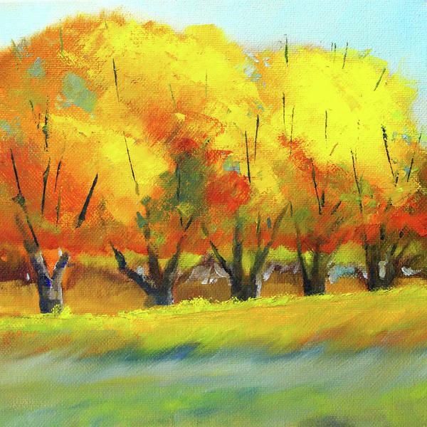 Wall Art - Painting - Autumn Tree Line by Nancy Merkle