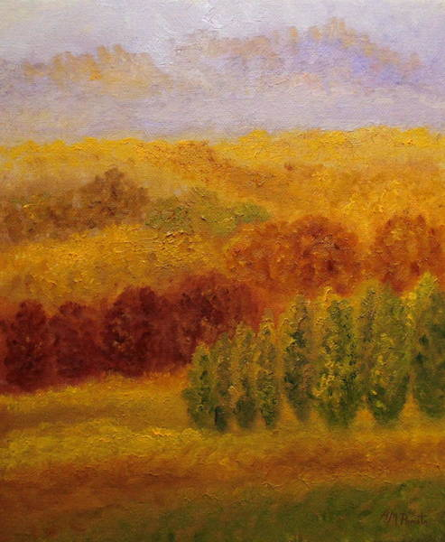 Painting - Autumn Vibe by Angeles M Pomata