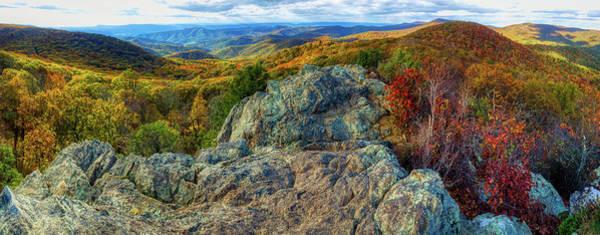 Wall Art - Photograph - Autumn View From Bearface, Shenandoah National Park  by N P S Katy Cain