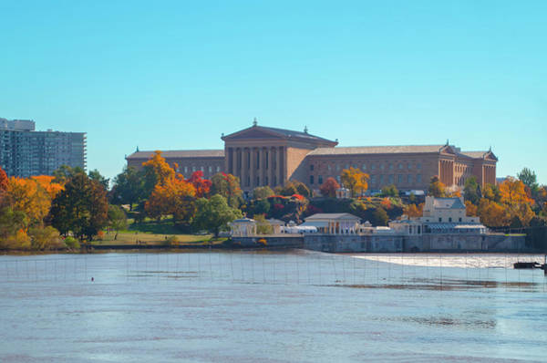 Photograph - Autumn View Of The Philadelphia Museum Of Art by Bill Cannon