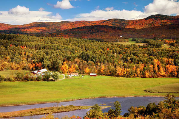 New Hampshire Photograph - Autumn View Overlooking Connecticut by Danita Delimont