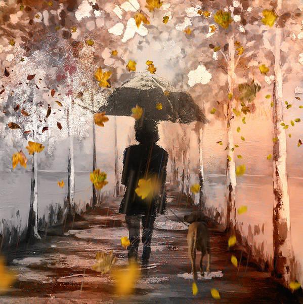 Wall Art - Digital Art - Autumn Walk by Tim Palmer