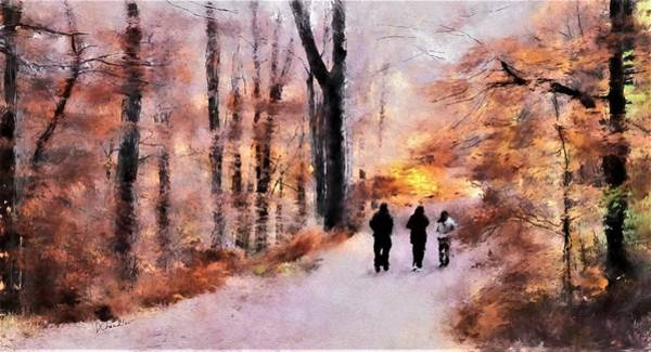Painting - Autumn Walkers by Diane Chandler