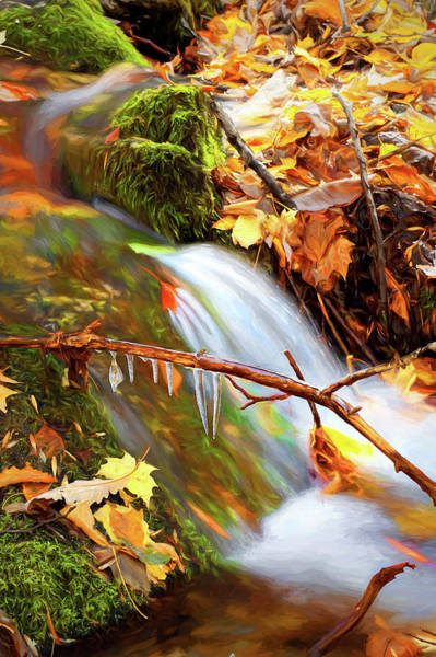 Wall Art - Photograph - Autumn Water Flow 7 by Dan Carmichael