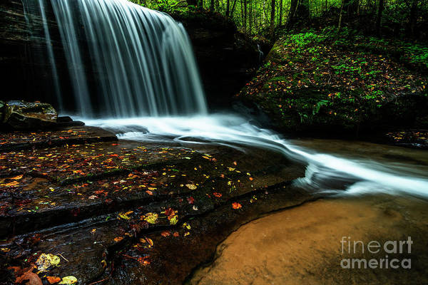 Photograph - Autumn Waterfall  by Thomas R Fletcher