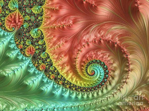 Wall Art - Digital Art - Autumn Wave by Elisabeth Lucas