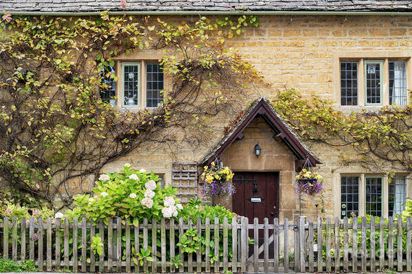 Wall Art - Photograph - Autumnal Cottage Bourton On The Water by Tim Gainey