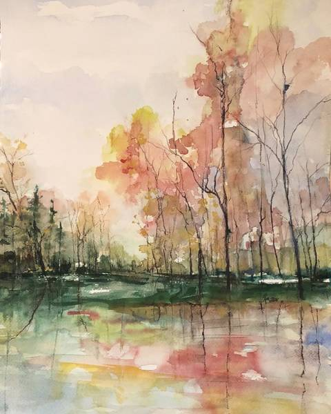 Painting - Autumnal Equinox by Robin Miller-Bookhout