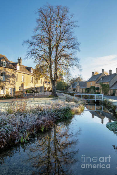 English Countryside Photograph - Autumnal Morning Frost In Lower Slaughter by Tim Gainey