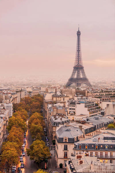 Wall Art - Photograph - Autumnal Paris And The Eiffel Tower. by Maggie McCall