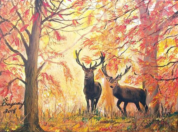 Painting - Autumn's Glow by Sharon Duguay