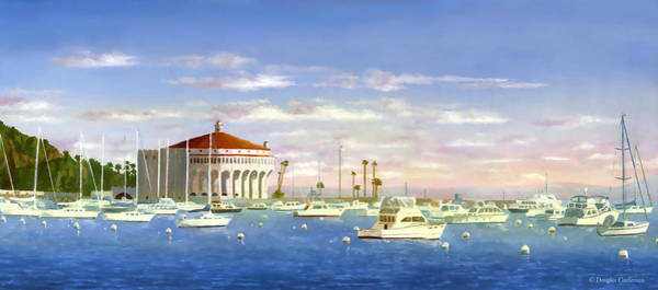 Painting - Avalon Harbor In The Morning by Douglas Castleman
