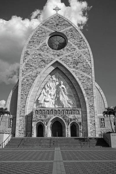 Photograph - Ave Maria Cathedral Black And White by Kathi Mirto