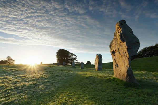 Prehistoric Era Wall Art - Photograph - Avebury Stone Circle At Sunrise by James Osmond