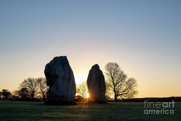 Photograph - Avebury Stone Circle Sunrise by Tim Gainey