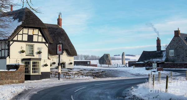Photograph - Avebury Village Wiltshire by Tim Gainey