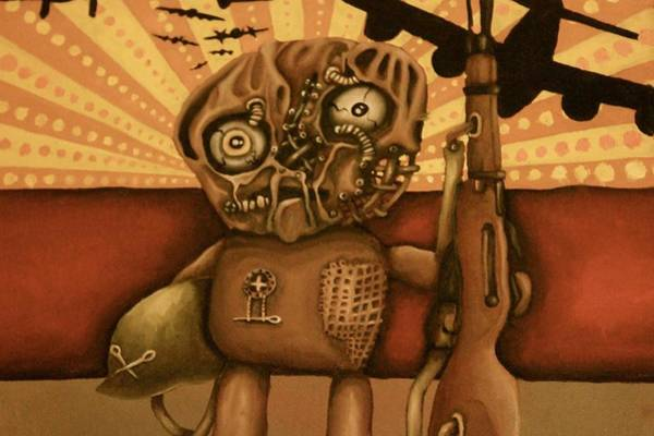 Voodoo Doll Painting - Avenge Your Holes by Desiree Aponte