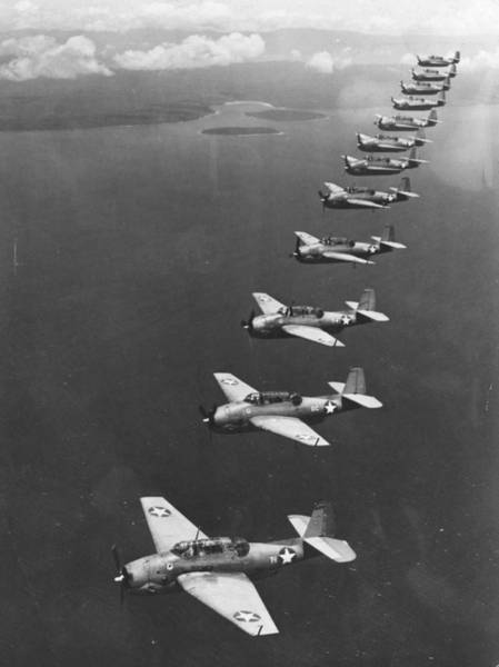 Bomber Photograph - Avenger Bombers by Three Lions