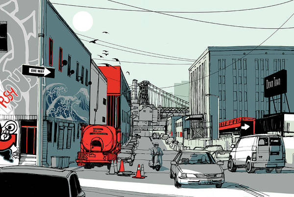 Wire Digital Art - Avenue by Copyrights (c) Wonman Kim