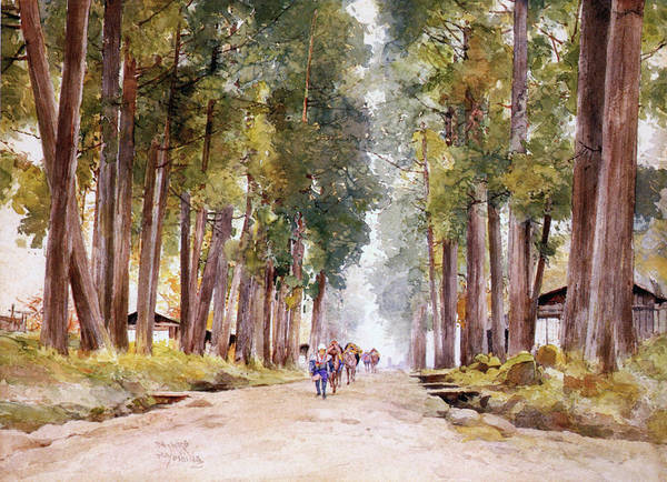 Avenue Painting - Avenue Of Cedars - Digital Remastered Edition by Yoshida Hiroshi