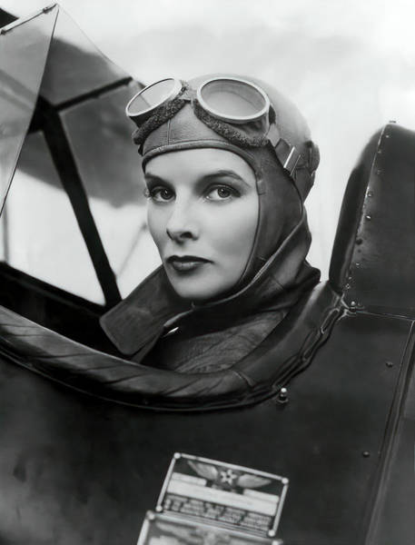 Wall Art - Photograph - Aviatrix Katherine Hepburn 1933 by Daniel Hagerman