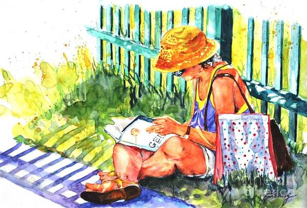 Painting - Avid Reader #2 by Betty M M Wong